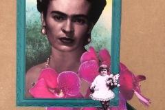 Sandra Souza, Uma festa para Frida,  colagem, 2021