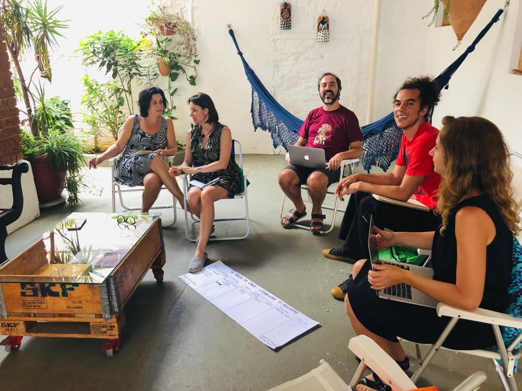 Imagem de nossas primeiras reuniões