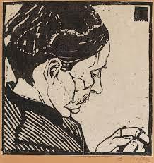 Laboratorio de escrita_Arturo creditos da imagem - Artista - Broncia Koller-Pinell 1863-1934 - Titulo - Mãe da artista - Xilogravura