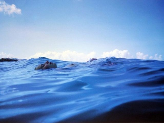 Christine Floating in the Sea, St Barth's, 1999Photography by Nan Goldin I