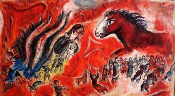 Le Cheval roux (la guerre), Marc Chagall